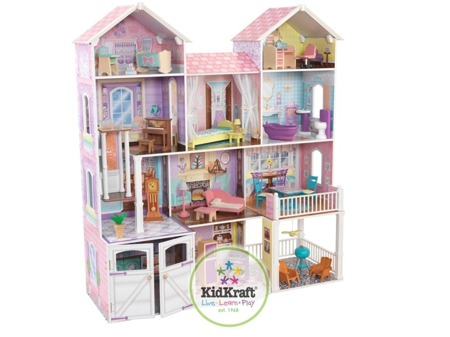 Domek dla lalek Kensington Country Estate Kidkraft ze światłem i dźwiękiem 65242