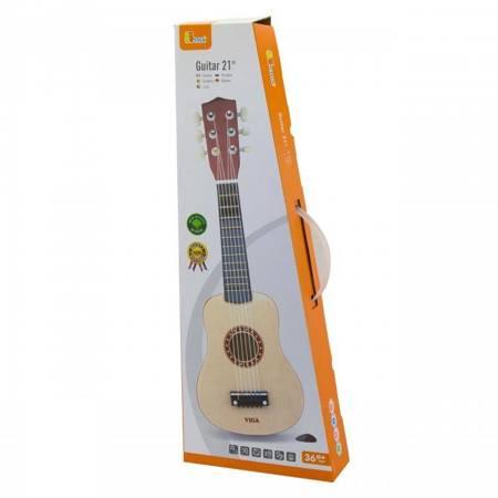Drewniana Gitara dla dzieci Naturalna Viga Toys