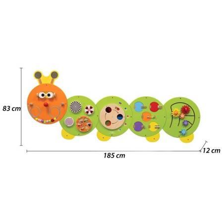 Drewniana Tablica Edukacyjna Gąsienica Viga Toys