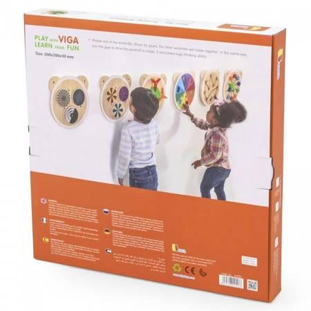 Drewniana Tablica Wiatraczki Viga Toys