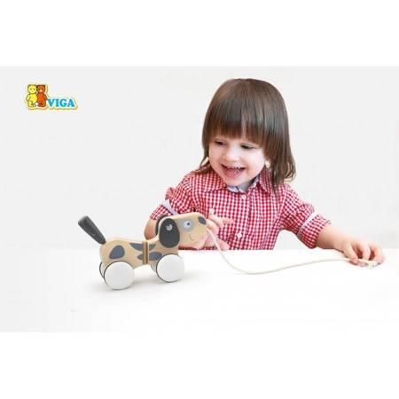 Drewniany Piesek do ciągnięcia Viga Toys
