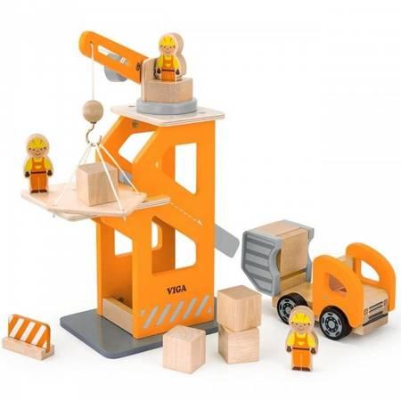 Drewniany Plac Budowy z akcesoriami Viga Toys