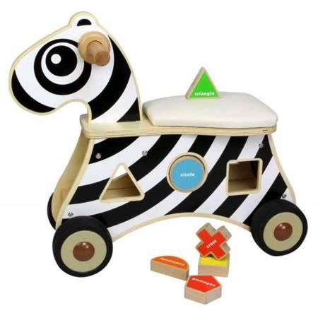 Jeździk Sorter Kształtów Zebra MASTERKIDZ