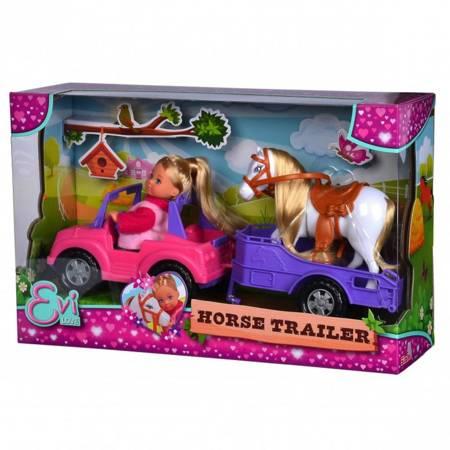 Lalka Evi z Koniem + Jeep z przyczepą  Simba