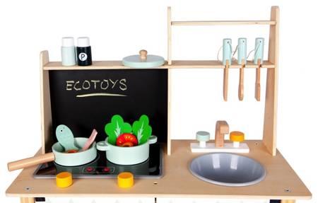 Drewniana kuchnia dla dzieci Flower + Akcesoria