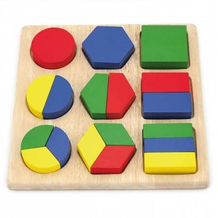 Drewniana układanka  Wzory Figury Geometryczne Viga Toys