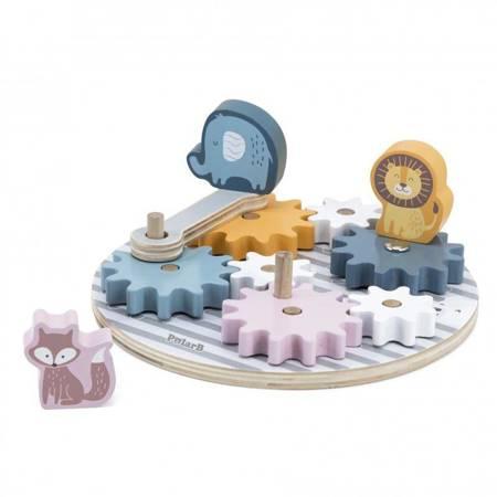 Drewniane Koła Zębate ze Zwierzątkami Viga Toys