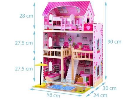 Drewniany Domek dla lalek  Julia