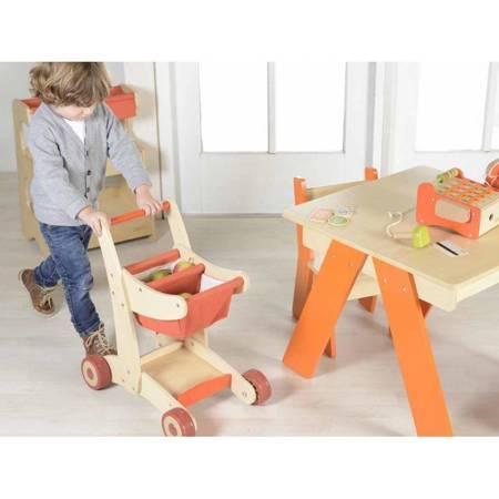 Drewniany Wózek Sklepowy Na Zakupy Masterkidz