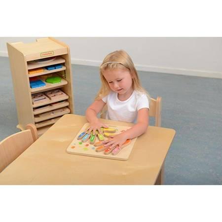 Edukacyjna Tabliczka Drewniana Liczenie Na Palcach Masterkidz