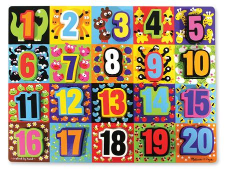 Grube Puzzle Jumbo 123 - Układanka z cyferkami  Melissa and Doug 13832