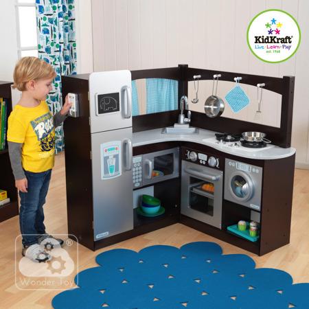 Kuchnia dla dzieci KidKraft Wielka Narożna Kuchnia Espresso 53302