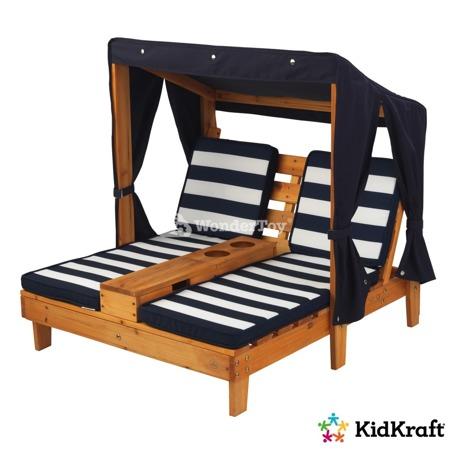 Leżak - Podwójny Szezlong ogrodowy z Baldachimem Kidkraft Chaise Lounge 00524