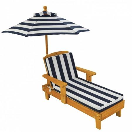 Leżak - Szezlong ogrodowy z parasolem Kidkraft Chaise 00105