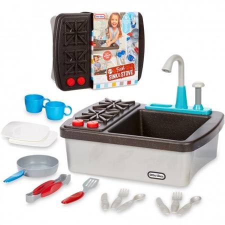 Little Tikes Zlew + Kuchnia z Obiegiem Wody 2w1 Zlewozmywak Kuchenka + Akcesoria