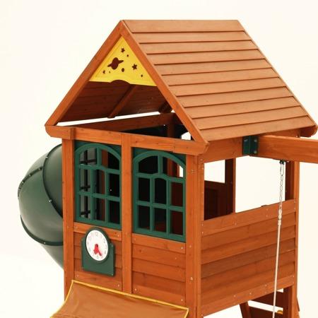 Mega Plac Zabaw KidKraft Forest Ridge - Huśtawki, Domek, Zjeżdżalnia Rurowa Tuba