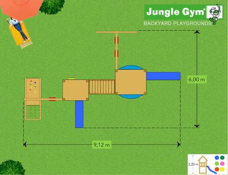 Mega Plac Zabaw  Long John Jungle Gym