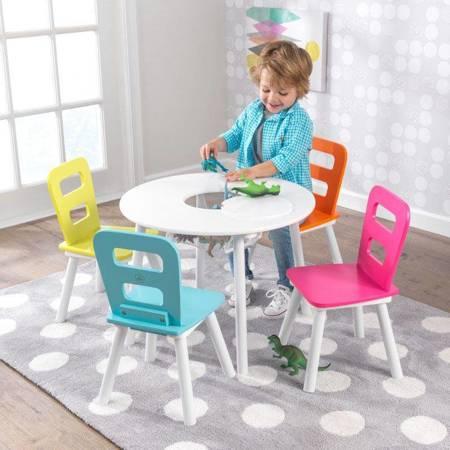 Okrągły Stolik i 4 Krzesła Neonowe Kidkraft 26462