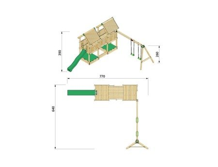 Plac Zabaw Hy-Land P4S z Huśtawką ® Outdoor Play Equipment