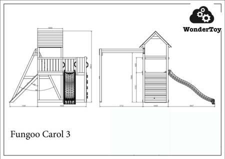 Plac zabaw Carol 3 Natural™ FunGoo ®