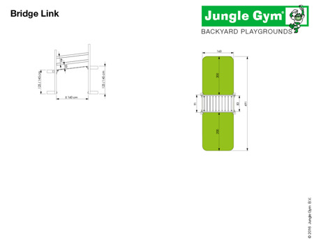 Plac zabaw - Zestaw Jungle Gym Radosna Polana