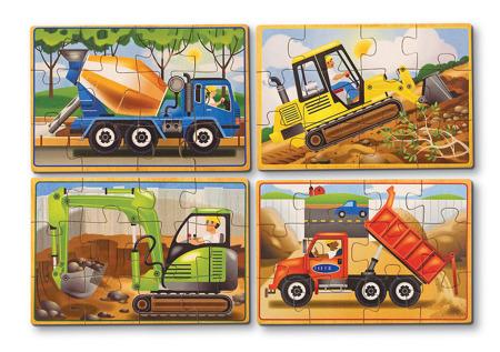 Poczwórne Puzzle Pojazdy z Budowy Melissa and Doug 13792
