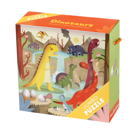 Puzzle Mudpuppy Jumbo Dinozaury 25 szt