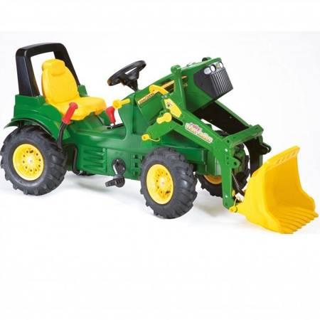 ROLLY TOYS John Deere Traktor na Pedały z Łyżką + Kamizelka Odblaskowa dla Dzieci Gratis