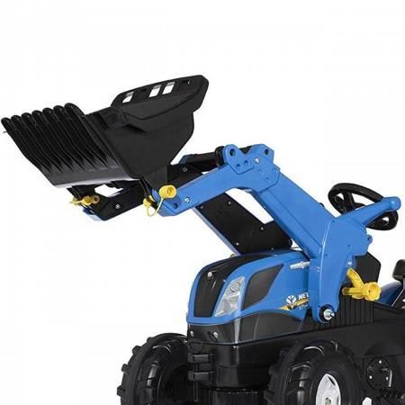 Rolly Toys rollyFarmtrac New Holland traktor na pedały z łyżką i cichymi kołami