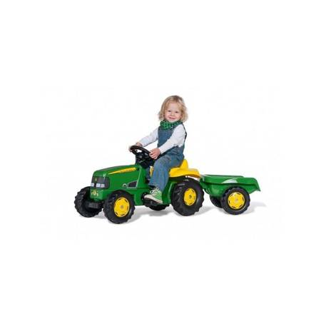 Rolly Toys rollyKid Traktor na pedały John Deere z przyczepką 2-5 lat