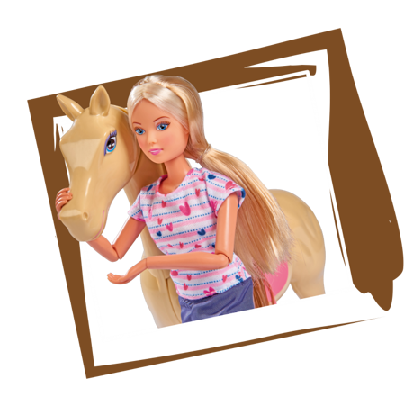 SIMBA Lalka Steffi Love Koń+ Akcesoria