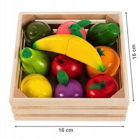 Skrzynka Drewniane Owoce do krojenia