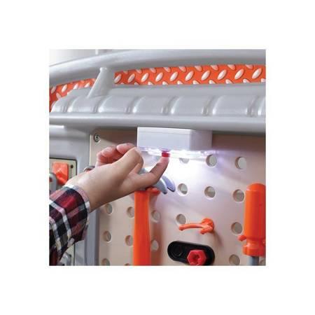 Step2 Duży Warsztat dla Dzieci Kącik Majsterkowicza Światło + 45 Akcesoria