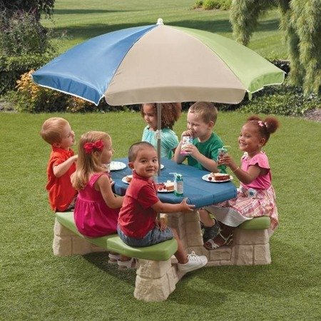 Stół Piknikowy + Parasol Step 2 Naturally Playful Picnic Table with Umbrella 843800