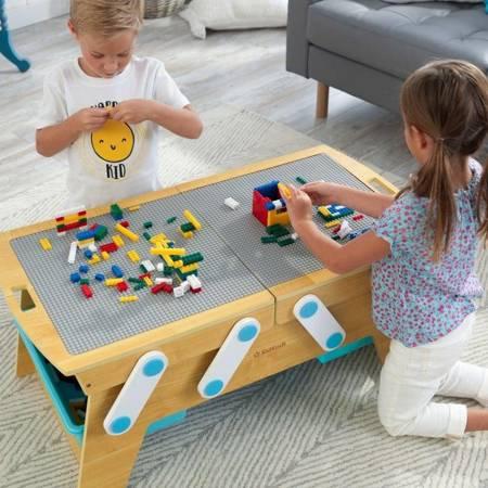Stolik do budowania i przechowywania klocków kompatybilnych z LEGO