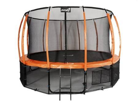 Trampolina Ogrodowa 487cm/16ft pomarańczowa Maxy Comfort Plus Z Wewnętrzną siatką