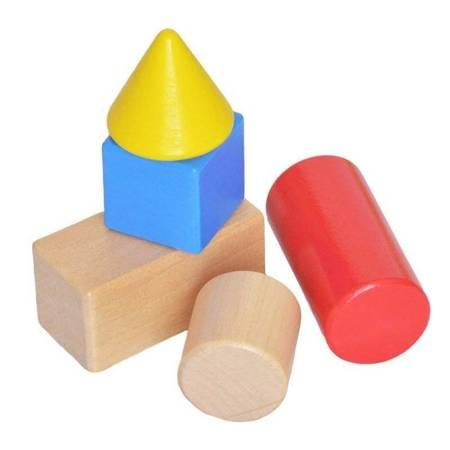 Zestaw Drewnianych Klocków w Wiaderku 100 el TOOKY TOY