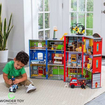 Zestaw Superbohatera Straż i Policja KidKraft Everyday Heroes 63239